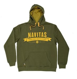 Navitas Outfitters Hoody, green with yellow